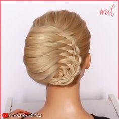 Hairdo For Long Hair, Bun Hairstyles For Long Hair, Braided Hairstyles, Braided Chignon, Hair Curling Tips, Hair Upstyles, Front Hair Styles, Hair Videos, Hair Hacks