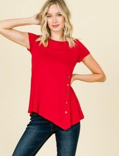 29b83858b2ae61 MomMe And More Best  1 Women s Solid Red Tunic Tops – MomMe and More Tunic