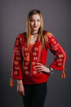 Shop Women's blouse with traditional embroidery from REAL's shop in Blouses, available on Tictail from Blouse En Coton, Vintage Crafts, Blouses For Women, Kimono Top, Buy And Sell, Embroidery, Womens Fashion, Sweaters, Handmade