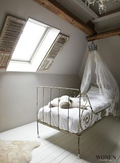 now my loft would look a whole heap better painted white and a little curtain on the velux. Black Bedroom Furniture Sets. Home Design Ideas