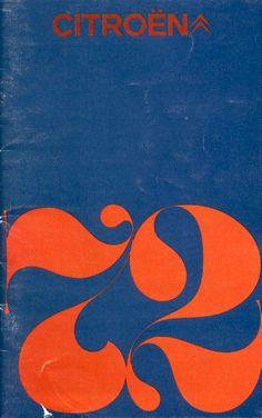 (A good year!) 1972 Citroen brochure - designer unknown