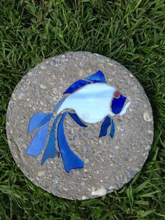Koi Stained Glass Stepping Stone on Etsy, $10.00