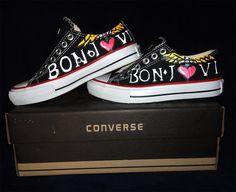 Home Moda Tênis Converse All Star Bon Jovi - Produto 520215   AIRU I would like to have these.
