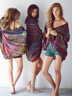http://www.hjbon.com/ Free People Travelled History Statement Kimono at Free People Clothing Boutique