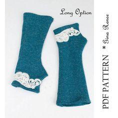 Fingerless Gloves Pattern. PDF Glove Sewing par GinaReneeDesigns