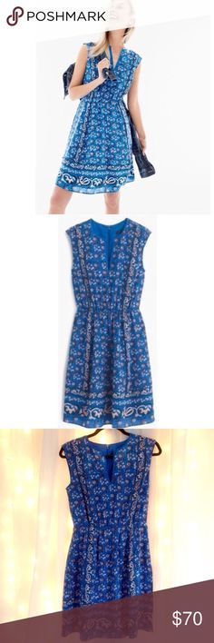 J. Crew Silk Dress NWOT Adorable retail J. Crew dress- 100% silk. Fits true to size, hits right above knee. Features small zipper on back. No trades please! J. Crew Dresses Midi