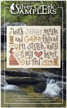 Stitching Feeds My Heart is the title of this cross stitch pattern from Silver Creek Samplers.