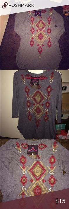 Johnny Was Long Sleeve Top Size M. Johnny Was Long Sleeve Top Size M. Aztec designs very comfortable to wear! Johnny Was Tops Blouses