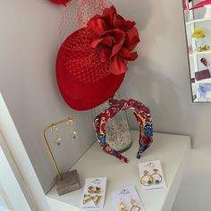 The studio is all freshly painted and looking forward to the time I can welcoming back clients.  In the meantime products can be order online. If you need advise on colours then please just ask. #millinerystudio #millinerystyle #winkleigh #devon #fashion #headbands #hats #fascinators #earrings #lookgood #hairband #newlook #fashionstudio #felthat #redhat #fedfelthat #floralheadband #weddingguests #motherofthebride #motherofthegroom #millinery #devonmilliner #beprepared #postponedwedding… Fashion Headbands, Floral Headbands, Fascinator Hats, Fascinators, Felt Hat, Looking Forward, Red Hats, Fashion Studio, Devon