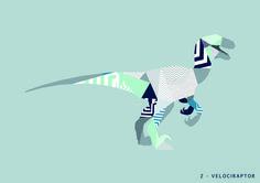 Geometric Dinosaur Prints