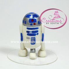 R2D2, inspirado en Star Wars, video curso paso  a paso en porcelana fria.