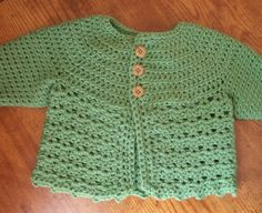 Baby Sweater and Hat Set 6 months  1 year old by PLBcrafter, $45.00