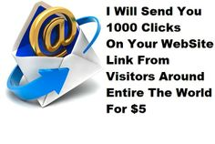 selfmadebosss: isend You 1000 Clicks On Your WebSite Link for $5, on fiverr.com