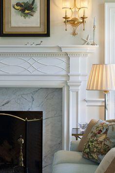 Villanova Residence - fireplace - traditional - living room - philadelphia - Archer & Buchanan Architecture, Ltd.