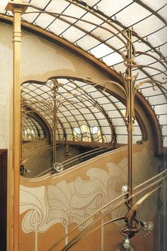art nouveau architecture from the horta museum.