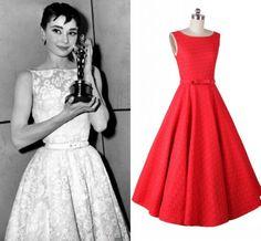 $34.35 - Slveeless Lace Crochet Dress  Audrey Hepburn 50s Summer Dresses Vestidos Femininos Ladies Slim Swing Dresses
