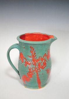 Ceramic Pitcher  Water Pitcher  Stoneware by KeyWestPottery, $75.00