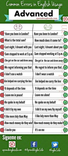 "hellolearnenglishwithantriparto: "" Don't make these mistakes! #learnenglish """