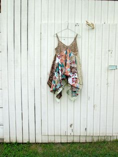 romantic Upcycled clothing / Patchwork Shirt Dress / by CreoleSha