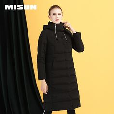 New slim down jacket female long section thick warm long coat super long  white duck down b75640a33