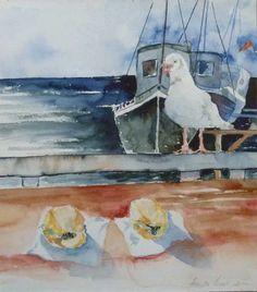 Unsere verkauften Bilder 2012 | Zwei Möglichkeiten (c) Aquarell von Hanka Koebsch #Aquarell #watercolor #Möwen #seagull