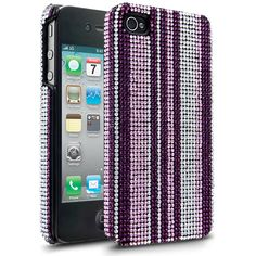 DeBari Designer iPhone 4 Case - Pink Stripe Candy  Case for Apple iPhone 4 or 4s