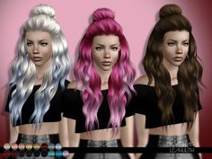 Lana CC Finds - leahlillith: Night Hair: DOWNLOAD SIMS 3