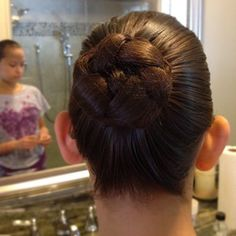 The happily ever after . . .: Recital Day! Plus How to Make a Hair Bun