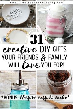 31 Easy & Inexpensive DIY Gifts Your Friends and Family Will Love Gifts For Female Friends, Diy Gifts For Friends, Diy Gifts For Kids, Small Friend Gifts, Diy Gifts Small, Diy Christmas Gifts For Family, Homemade Christmas Gifts, Christmas Crafts, Christmas Presents For Cousins