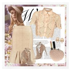 """""""Linen & Lace"""" by style-stories ❤ liked on Polyvore featuring Marni, Gianvito Rossi, self-portrait, Glam Cham, Gucci and Carolee"""