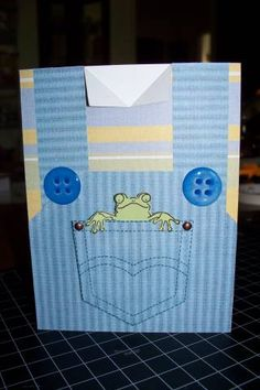 It's harder to find cards for boys.  This works well.