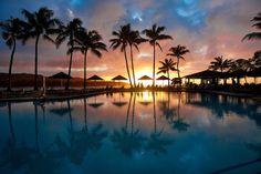 tropical, Oceanside swimming pool