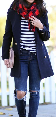Nautical winter outfit