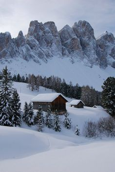 Odle, Dolomiti Mountains, Italy From Fotomomo I Love Winter, Winter Snow, Winter Christmas, Simple Christmas, Christmas Cards, Christmas Tree, Italy Landscape, Winter Landscape, Landscape Art