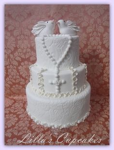 First Communion Cake  Cake by LillasCupcakes