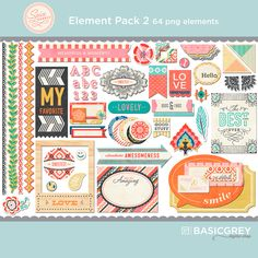 Spice Market Element Pack 2 - Snap Click Supply Co.- love the borders in this kit
