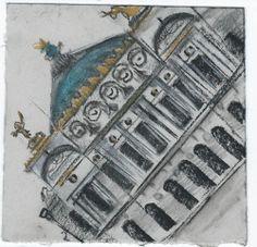 Opera Garnier. Paris. Andi Ipaktchi illustration. illustratrice.com