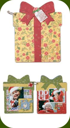 Capture your holiday memories in this adorable present-shaped album. The Album-Present die can also be used to create birthday albums, guest books and more. http://www.accucutcraft.com/album-present.html
