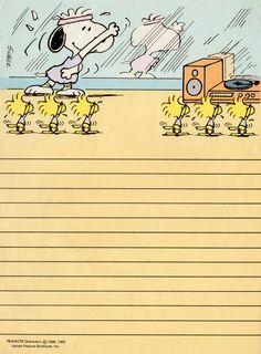 Snoopy vintage stationary papel de carta