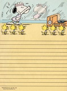 Snoopy vintage stationary papel de carta