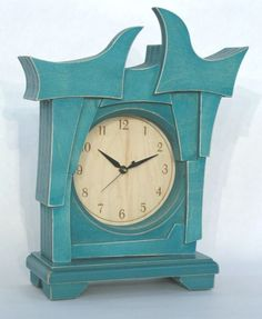 Abstract mantel clock by Dust Furniture