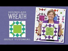 While away the hours stitching up a lovely wreath pattern using the simplest quilt blocks. This design is constructed using a combination of hourglass blocks and squares with snowballed corners. It's