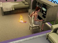 I can't tell you how many times I've had to pause a game to put out a baby fire