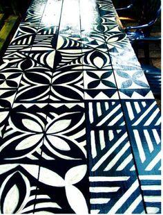 Hawaiian Decor, Hawaiian Art, Hawaiian Tattoo, Samoan Designs, Maori Designs, Samoan Patterns, Tapas, Polynesian Art, Homemade Art