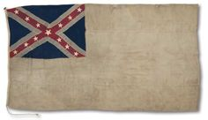 Garrison flag of Fort Fisher. 2nd national Confederate States of America flag (variant)