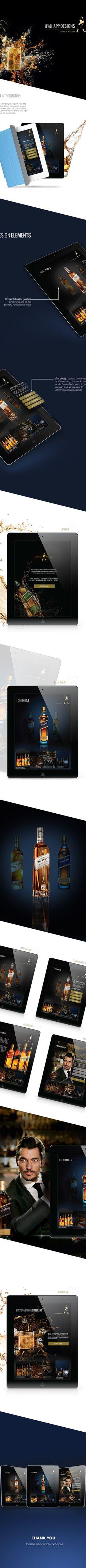 Johnnie Walker iPad App Design Concept on Behance