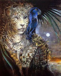 shaman the paintings of susan seddon boulet Fantasy Kunst, Fantasy Art, Totems, Art Visionnaire, Goddess Art, Bast Goddess, Fantasy Life, Spirited Art, Visionary Art