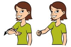 Give is signed by holding your thumb to to your fingers on your dominant hand, and moving your hand away from your body. The motion looks like you are giving the listener something.