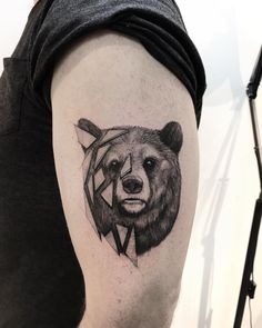 Bear Paw Tattoos, Grizzly Bear Tattoos, Dad Tattoos, Cute Tattoos, Body Art Tattoos, Tattoos For Guys, Sleeve Tattoos, Tatoo Styles, Tattoo Ideas