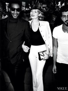 Kate Moss & Chiwetel Ejiofor for Vogue US December 2013